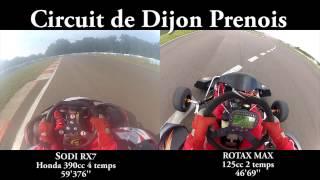 390cc honda 4temps vs 125cc rotax max 2temps