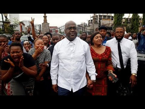 Supporters of Tshisekedi jubilate after election results proclamation in Congo [No Comment]