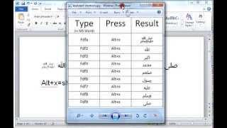 How to Write Islamic Arabic words in MS Word using keyboard shortcuts