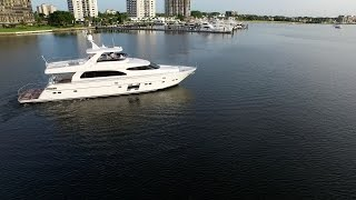 Horizon Yachts E78 Full Tour with hydraulic hardtop.  Great Loop yacht