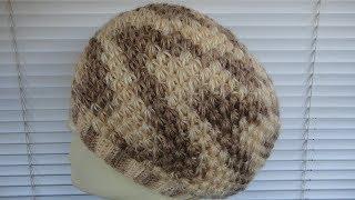 Шапка - берет узором Звездочки крючком. Crochet hat