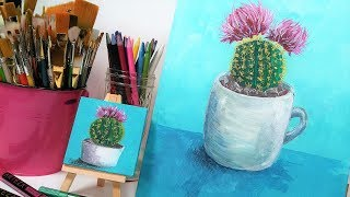 Wet-into-Wet Acrylic Blending Beginner Tutorial & Multipack Canvas Giveaway!