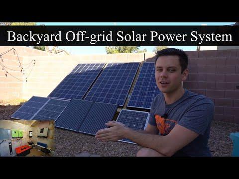Backyard Solar Power System Update! 10kWh Battery, 4 Inverters, 810W Solar Array
