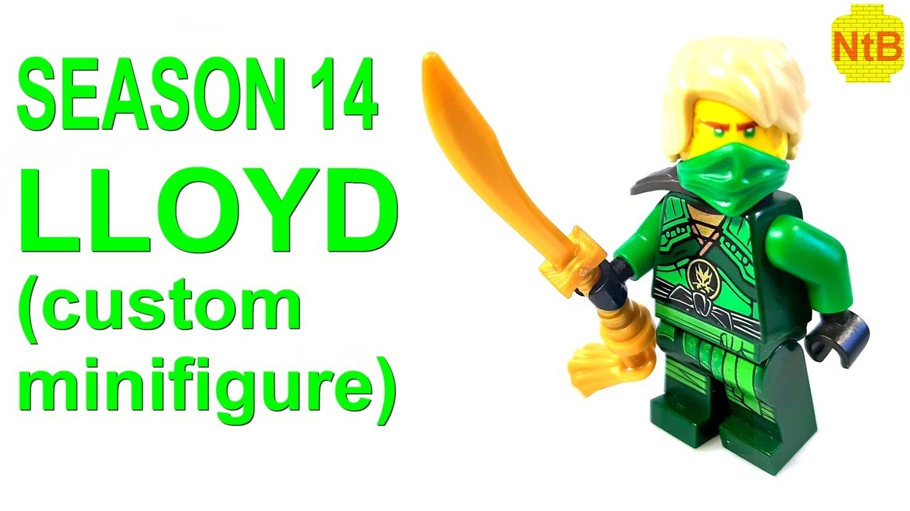 LEGO NINJAGO SEASON 14 LLOYD CUSTOM MINIFIGURE! - YouTube