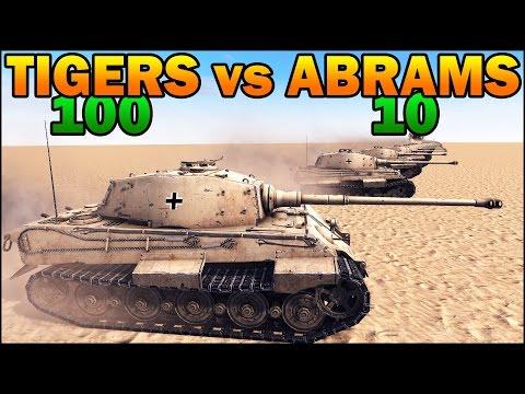 100 KING TIGERS vs 10 ABRAMS - WW2 TANK vs MODERN TANK - Call to Arms - Scenario #2  