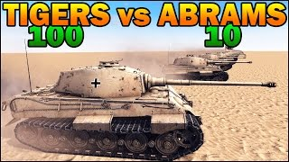 100 KING TIGERS vs 10 ABRAMS - WW2 TANK vs MODERN TANK - Call to Arms - Scenario #2