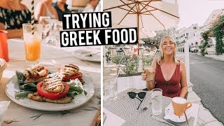 We Tried Greek Food | Why Food in the Greece ISLANDS is the Best!