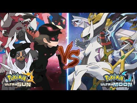 Pokemon Ultra Sun and Ultra Moon: Dark Hero Vs Arceus (Ultra Greninja Vs God)