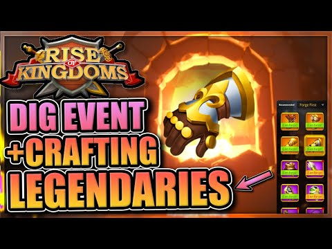 Hunt for History + Crafting Legendary Gear in Rise of Kingdoms [Please special talents…]