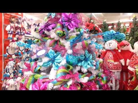 Decoracion arboles de navidad 2016 blanco con flores rojas - Arboles de navidad blanco ...