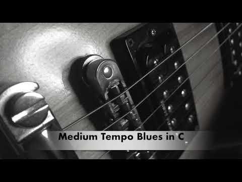 Medium Tempo Blues Backing Track in C
