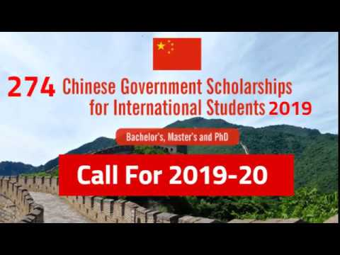 Chinese Government Scholarship 2019 Fully Funded Study in China