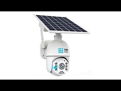TBI Pro Solar Security Camera Outdoor Wireless Pan Tilt- WiFi Home Security Camera System IP