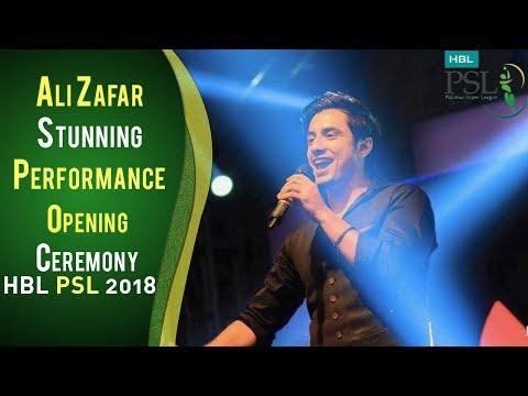 Ali Zafar Beautiful Performance On Opening Ceremony | PSL Opening Ceremony 2018 | HBL PSL 2018 | PSL thumbnail
