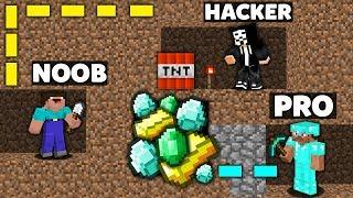 - Minecraft Battle NOOB vs PRO vs HACKER SURVIVAL MAZE TREASURE CHALLENGE in minecraft Animation