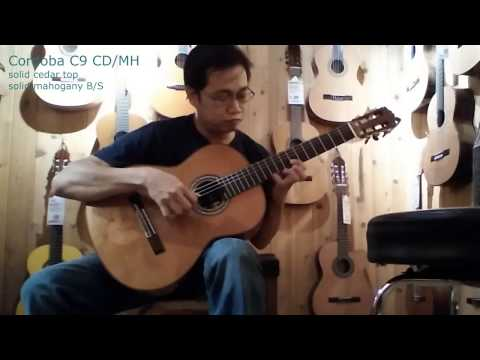 Cordoba C9 demo - Solo Classical Guitar