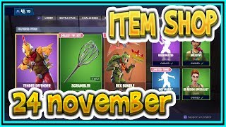 Fortnite ITEM SHOP November 24th all new SKINS and EMOTES-Playr NINE-English Fortnite EN