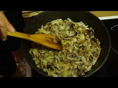 Как вкусно пожарить картошку с опятами