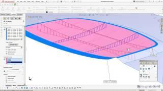 Solidworks Tutoriel: modélisation de la Surface d'un bouton en forme de dôme à l'aide de compenser les surfaces. AJ Studio de Design LTD.