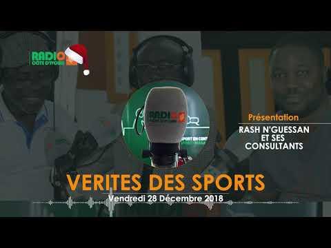 VÉRITÉS DES SPORTS DU 28 DÉCEMBRE 2018 - Radio CÔTE D'IVOIRE