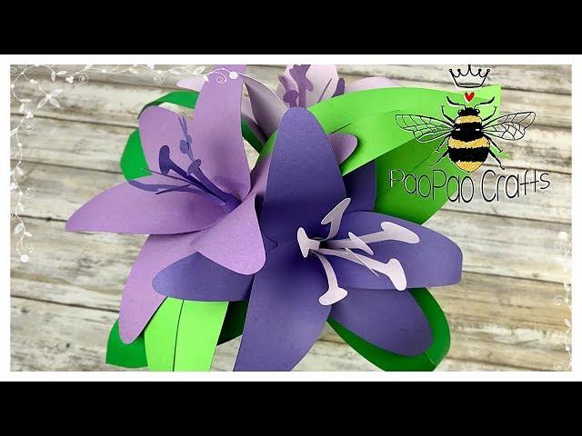 Lirio de papel | Moldes GRATIS | Flores de papel | Paper Lily |