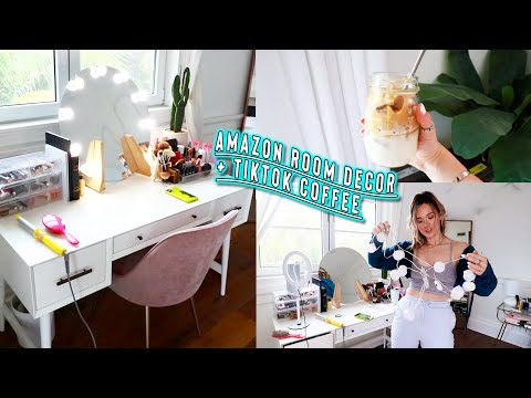 new amazon room decor + tiktok viral coffee!!
