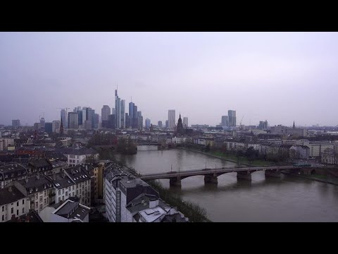 Snowy Frankfurt Time Lapse Stock Video