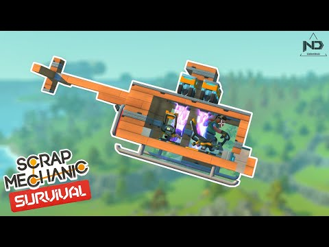 Scrap Mechanic Survival #16 - Thử Thách Chế Tạo Máy Bay Trực Thăng Siêu Khó