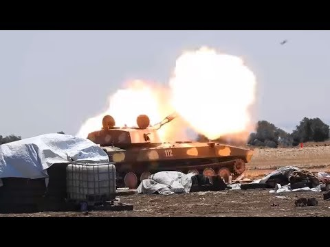 SYRIA: Artillery attack by SAA on FSA bases