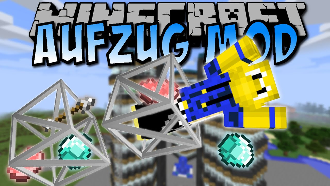 Minecraft AUFZUG MOD Spieler Items Mobs Transportieren Deutsch - Minecraft spieler finden mod