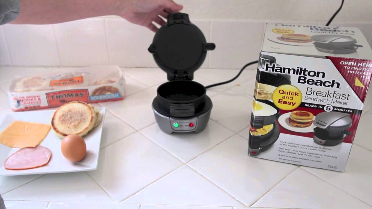 Hamilton Beach Breakfast Sandwich Maker Review Youtube