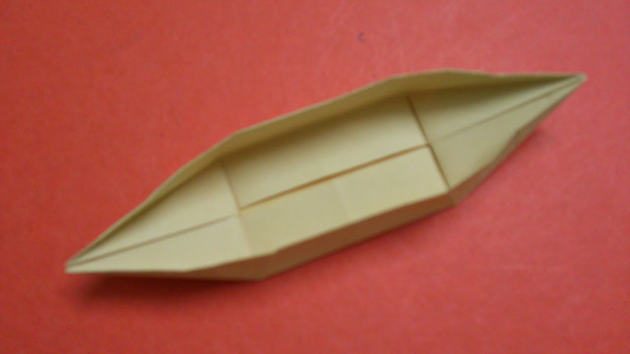 How to make a paper boat canoe 2 youtube for How to make a paper design