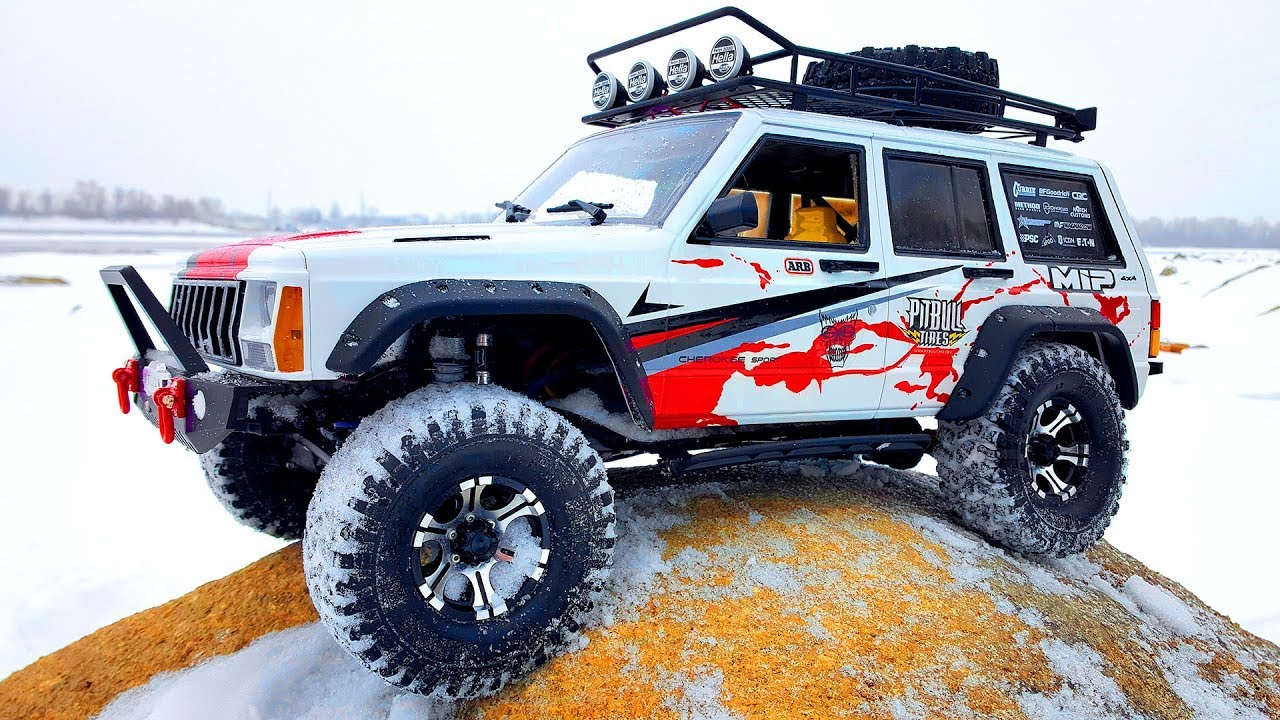 Metal Jeep Fenders >> Upgrade Axial SCX10 II Jeep Cherokee 4x4 — Hard Plastic Body, Metal Roof, Metal Bumper, Tires ...