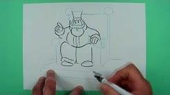 Wie zeichnet man einen König auf dem Thron  ? Zeichnen für Kinder