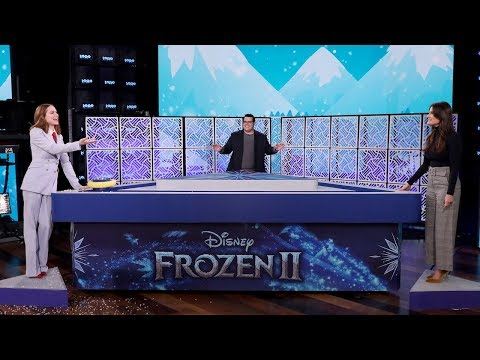Idina Menzel, Josh Gad, & Evan Rachel Wood Play 'What Does The Cast Of 'Frozen' Knows-zen?'