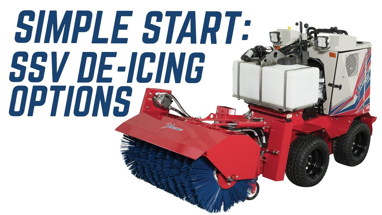 The Best Way to Apply De-icers on Sidewalks – Ventrac SSV – Simple Start