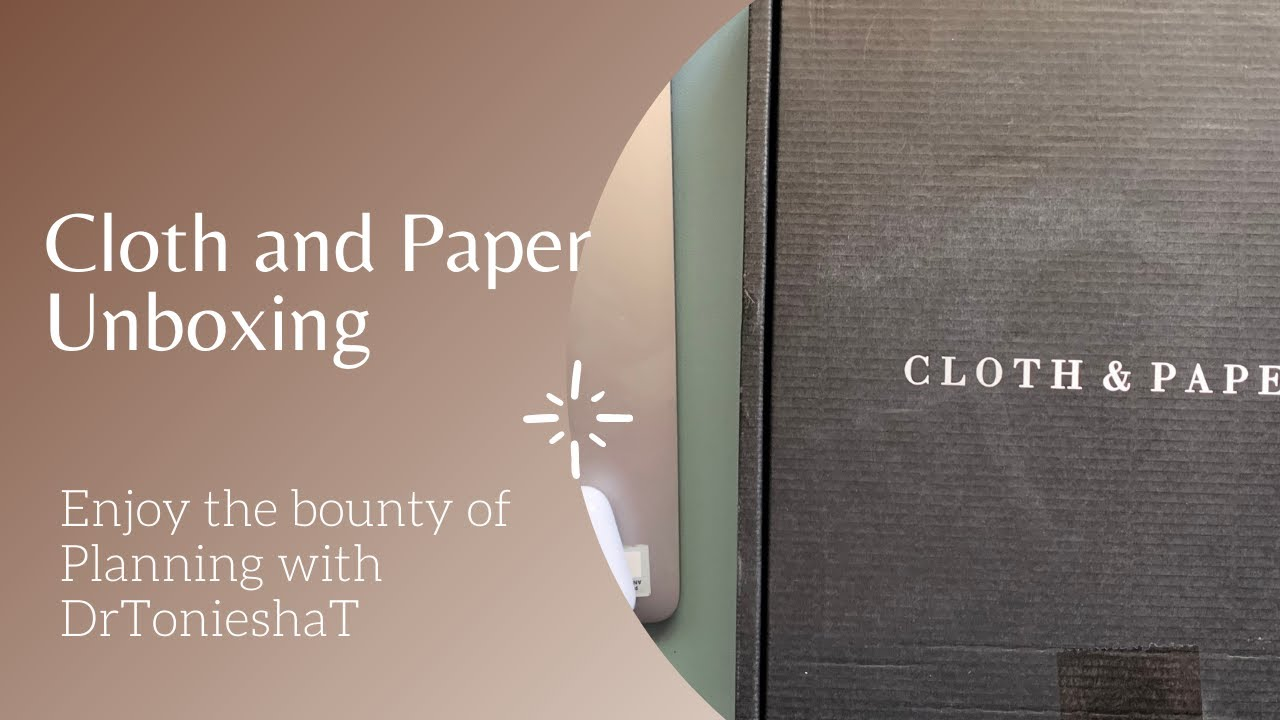 Cloth and Paper Unboxing Black Friday Orders mini setup