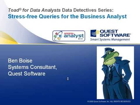 Stress-free SQL Queries for the Analyst Webinar