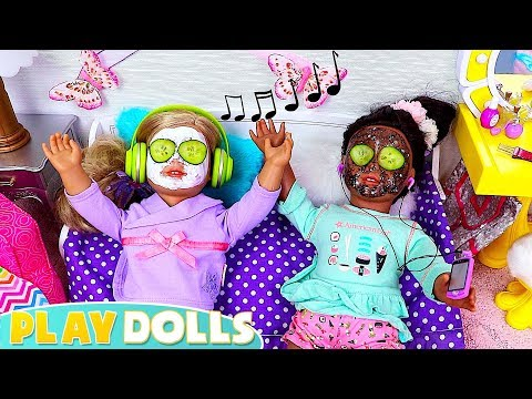 AG Baby Dolls Beauty Spa Sleepover Party Toys!