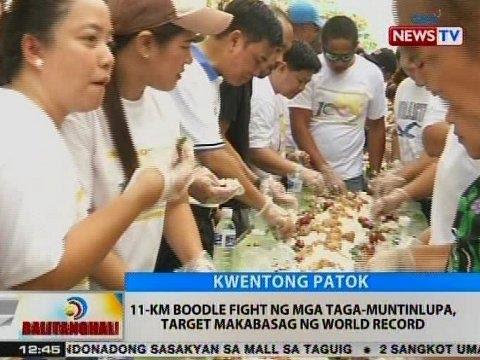 BT: 11-km boodle fight ng mga taga-Muntinlupa, target makabasag ng world record