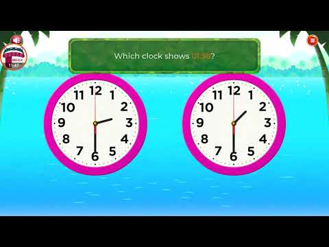 Learn To Tell Time On A Clock | Analog Clock Practice For Kids | Educational Video