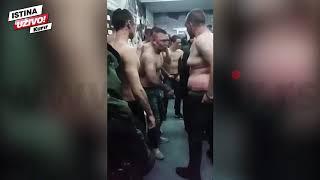 (KURIR TV) EKSKLUZIVNO Snimak kako policija postrojava huligane na večitom derbiju