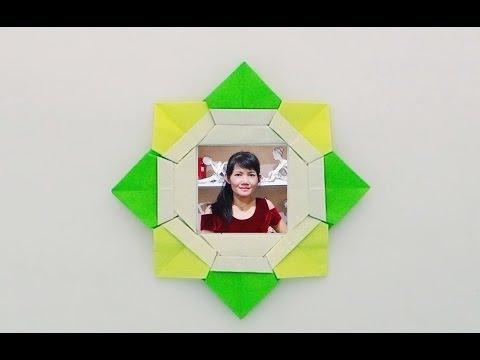 Origami Photo frame /พับกรอบรูปเก๋ๆ