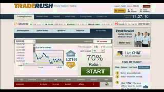 TradeRush/24 Options 60 sec. strategy.From $251.83 to $6757.50 in 1 week