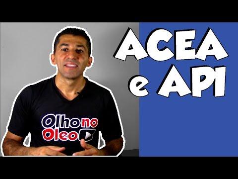 ACEA e API uma breve caracteristica sobre estas normas