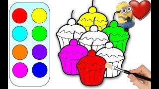 Kek çizerek renkleri öğreniyoruz çocuk renkler çizgi film izle lear colors with cake