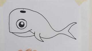 How to Draw a Cartoon Whale