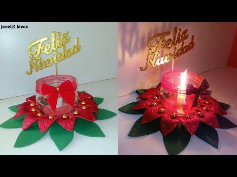 Centro de mesa navide o con goma eva decoraciones - Centro de mesa navideno ...