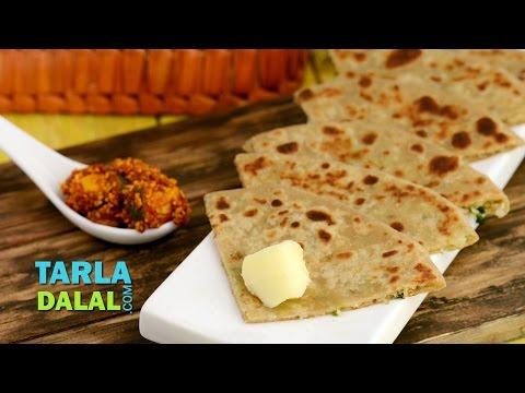 Gobi Paratha / Punjabi Gobi Paratha,  Stuffed Cauliflower Indian Bread Recipe by Tarla Dalal