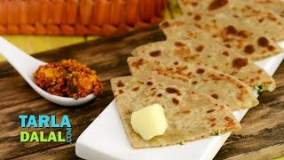 Gobi Paratha / Punjabi Gobi Paratha,  Stuffed Cauliflower Indian Bread Recipe by Tarla Dalal